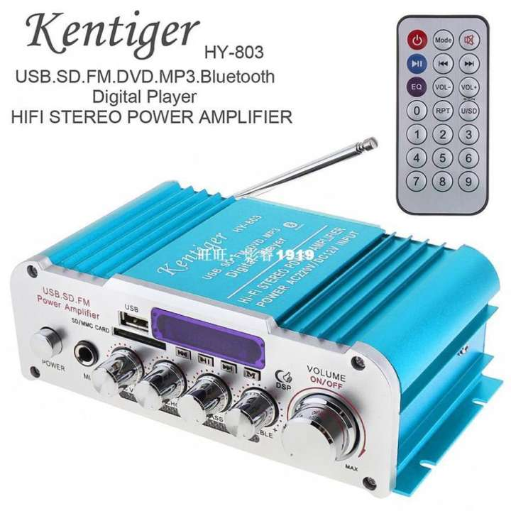 Mạch công suất ampli 12v, Amly mini Kentiger HY 803, âm ly chơi nhạc âm thanh cực đỉnh, hàng nhập khẩu