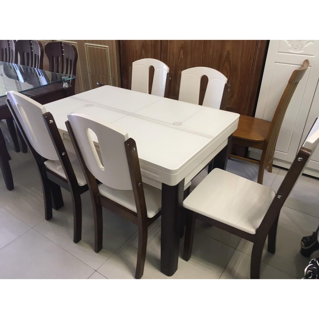 Bộ bàn ăn mặt đá nhập khẩu giá rẻ tại HCM TD61859-13