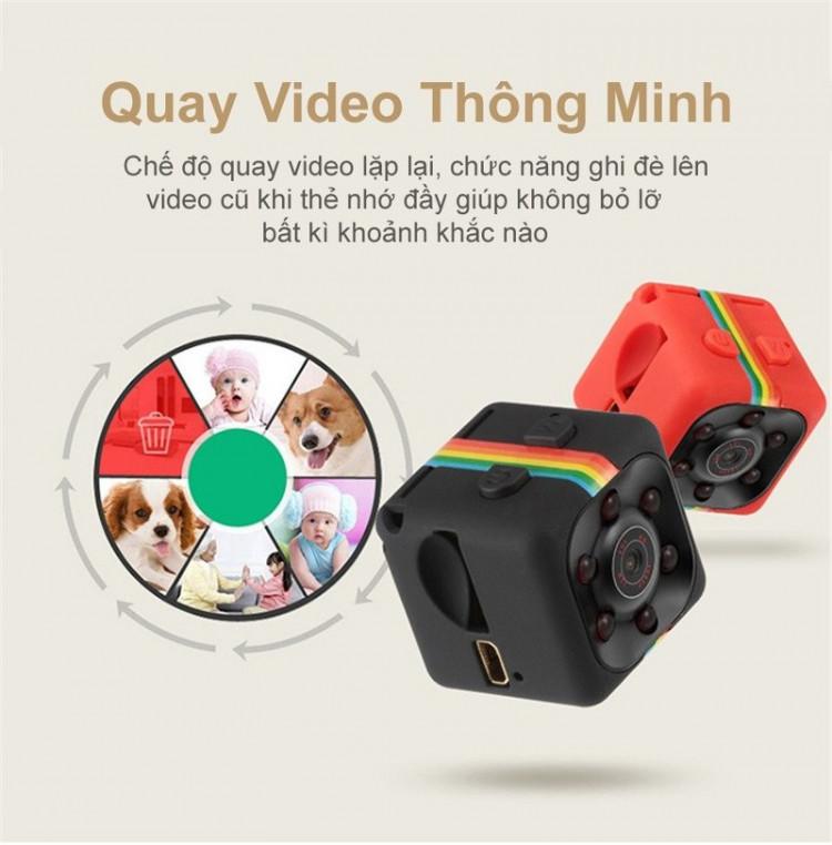 Camera Mini FullHD 1080P Hỗ Trợ Đèn LED Hồng Ngoại Đen Nhìn Đêm Cao Cấp Cảnh Báo Chuyển Động