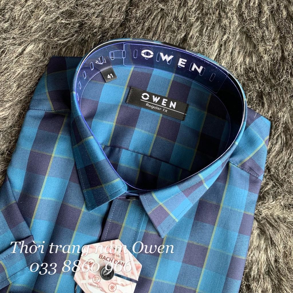 OWEN - Aó sơ mi ngắn tay nam Owen REGULAR FIT vải sợi bạch đàn siêu mềm mịn 22697