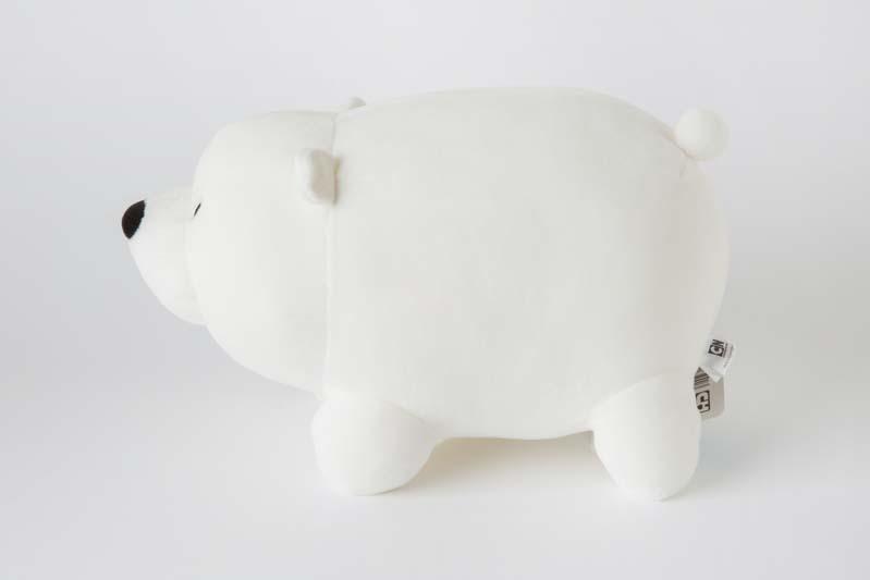 Gấu bông gấu trắng Ice Bear tháp gấu We Bare Bears 35 dáng nằm
