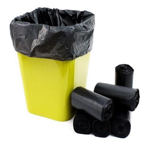 1kg - Túi đựng rác gia đình , Bao đựng rác văn phòng size trung 55x65 màu đen