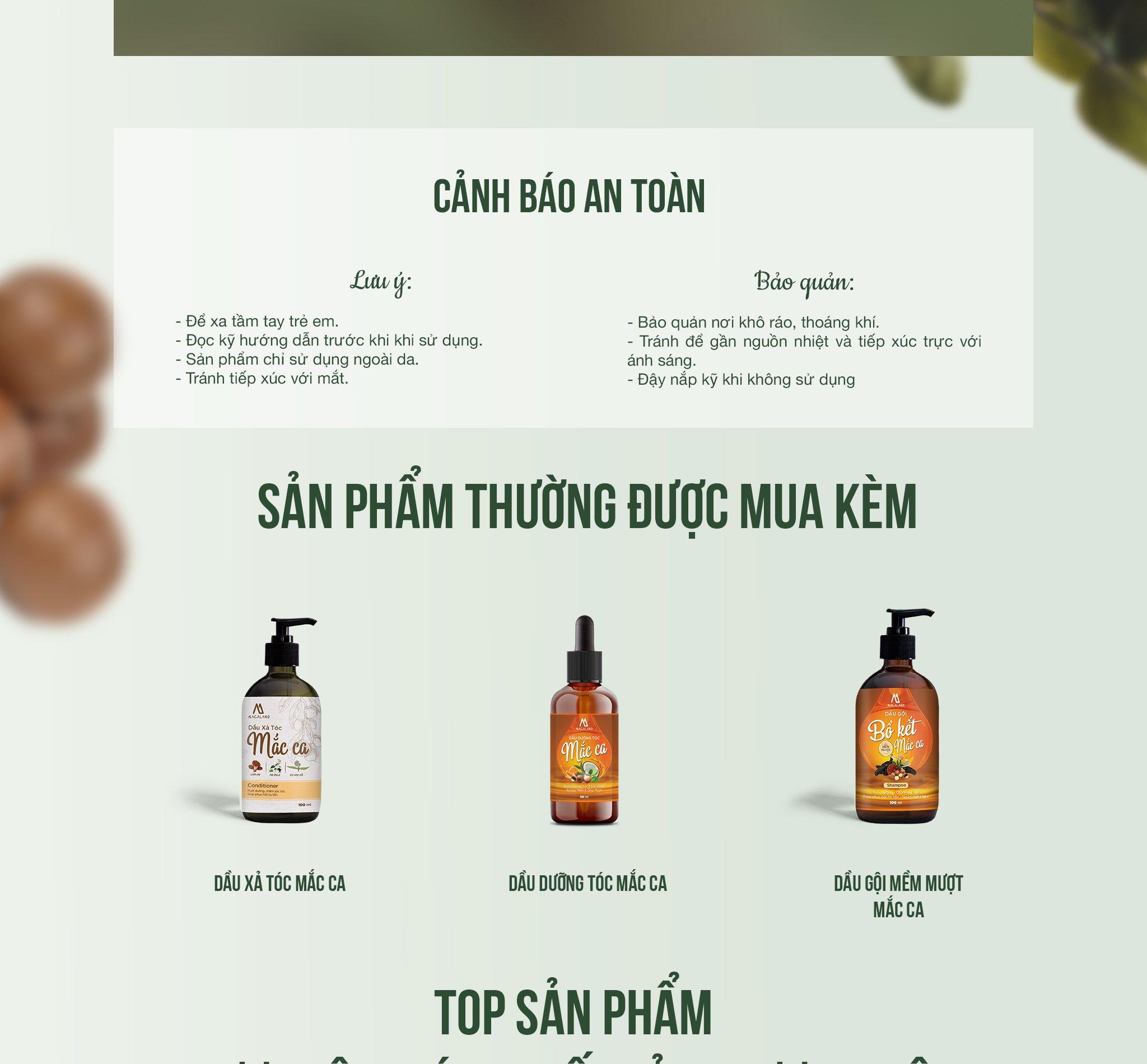 Dầu dưỡng tóc Macadamia, tinh dầu Bưởi 30ml Macaland nuôi dưỡng và phục hồi tóc hư tổn