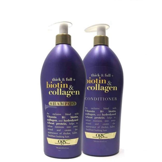 Combo Gội Xả chống rụng tóc OGX Biotin Collagen ( 750ml / chai )