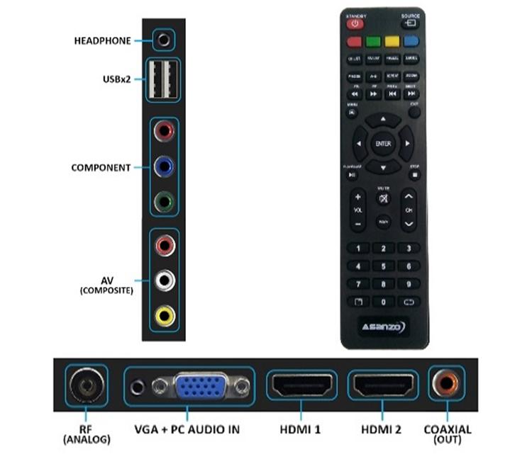 Tivi LED Asanzo HD 32 inch 32AH102
