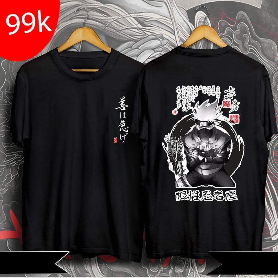 Hình ảnh  Áo Naruto - áo thun in hình Kakashi được yêu thích, giá rẻ nhất