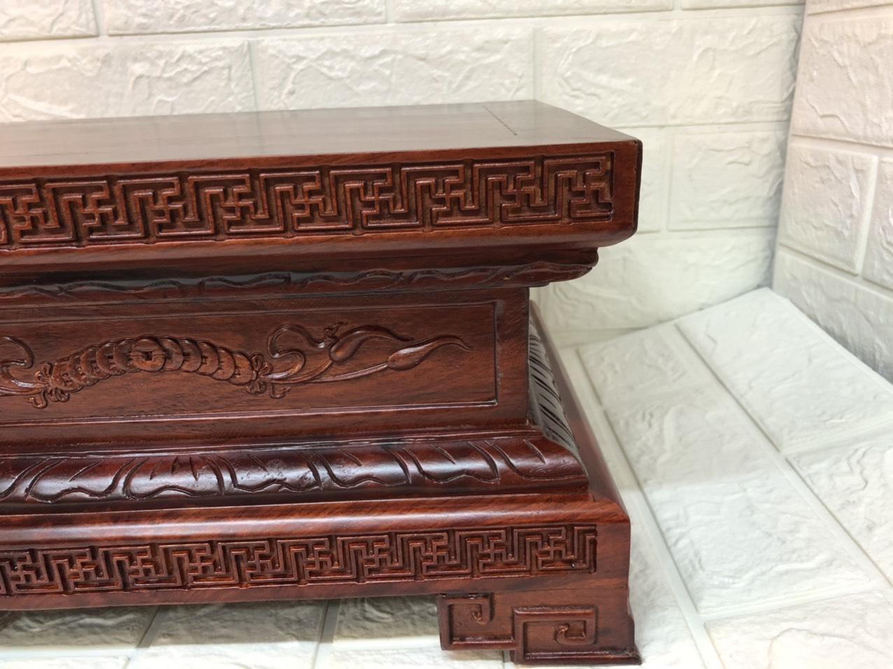 Đôn kê tượng gỗ hương  chữ nhật  TP1051