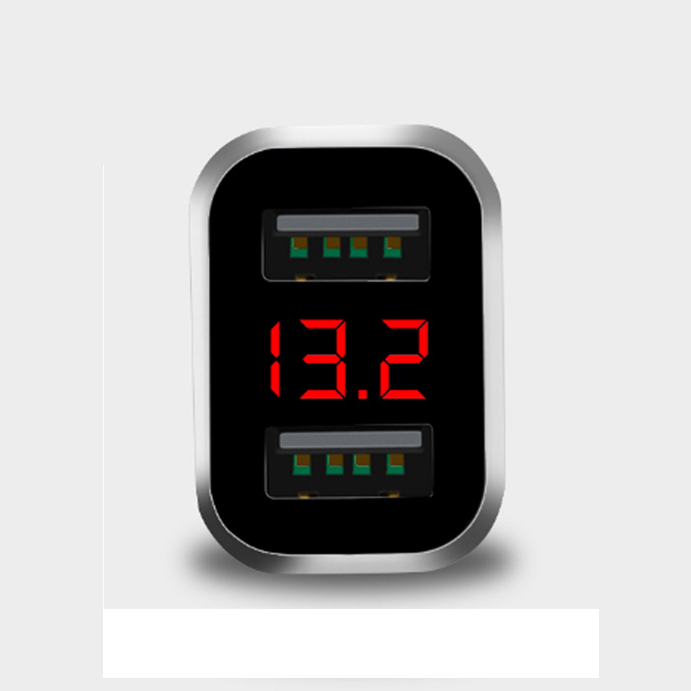 Tẩu Sạc Xe Hơi Chia 2 Cổng USB HD – Vôn Kế SPW01
