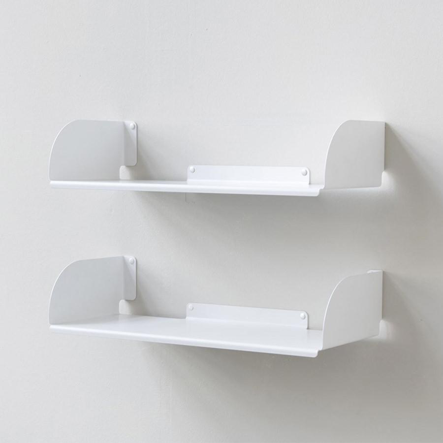 Kệ sách treo tường đơn giản chữ D45 (Set 2) - Trắng
