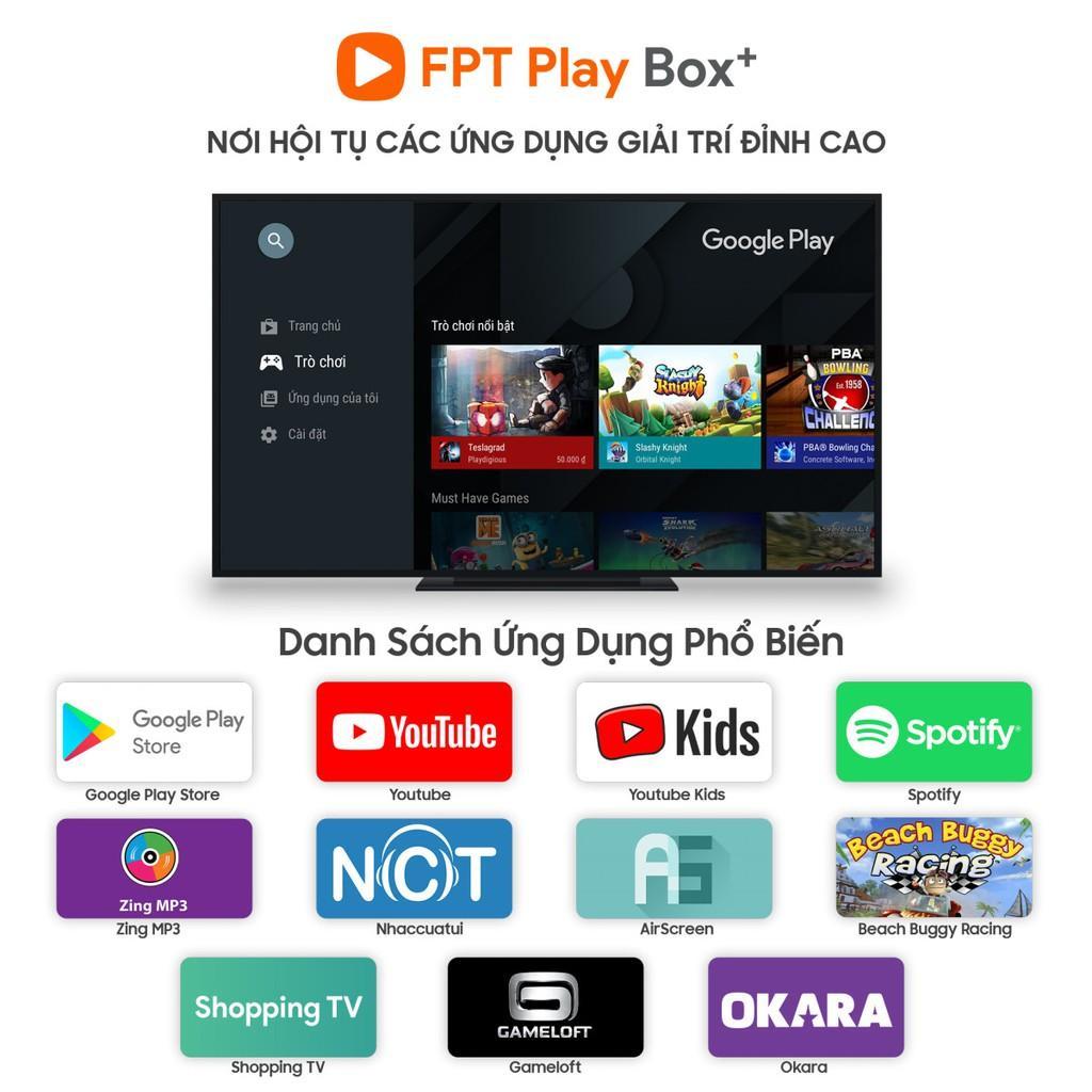Fpt Play Box 2020 Plus 4K ST550 Android box Smart box Fpt TV Box Fpt 2020 Fpt TV Box 2020 Android TV Box 10 Đầu thu Fpt Box 2020 Tivi Box giọng nói - Chính Hãng - Tặng chuột không dây