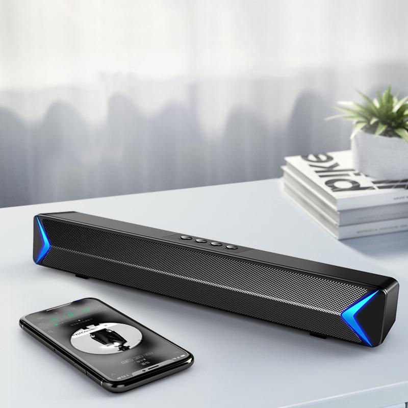 Loa Máy Vi Tính Bluetooth S13, Hỗ Trợ Bluetooth, USB, TF, Jack 3.5mm, Có Đèn Led Sáng 2 Cạnh, Pin Cực Khủng 2200mAh