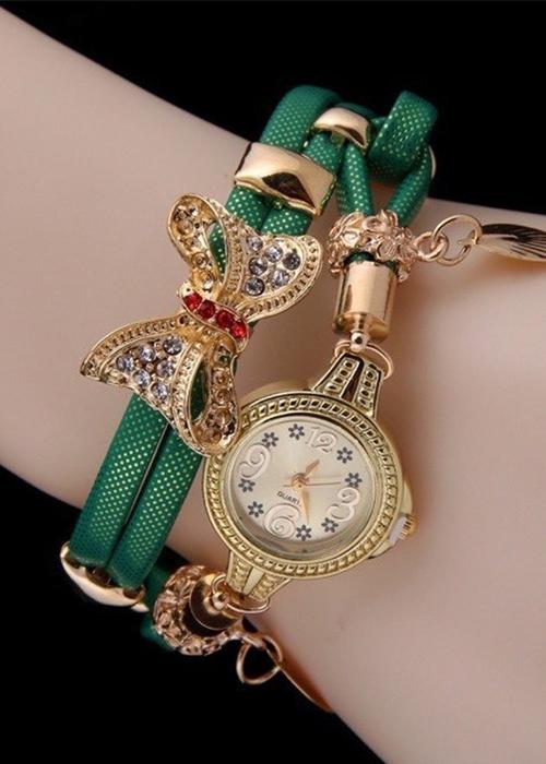 Đồng hồ nữ Quartz vòng tay nơ cực xinh