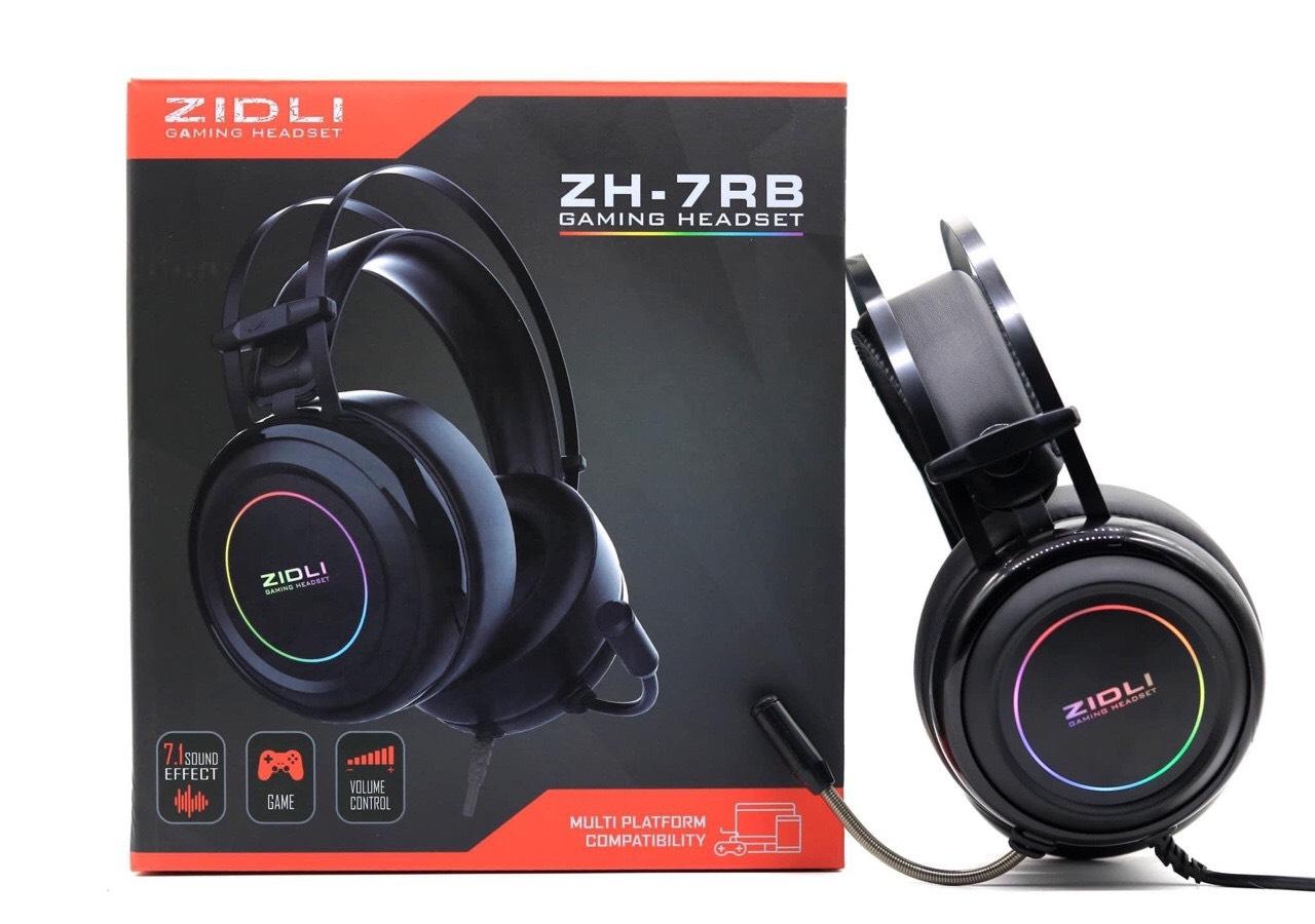 Tai nghe Gaming ZIDLI ZH-7RB (Sound 7.1, Led fix RGB) Black _ Hàng chính hãng