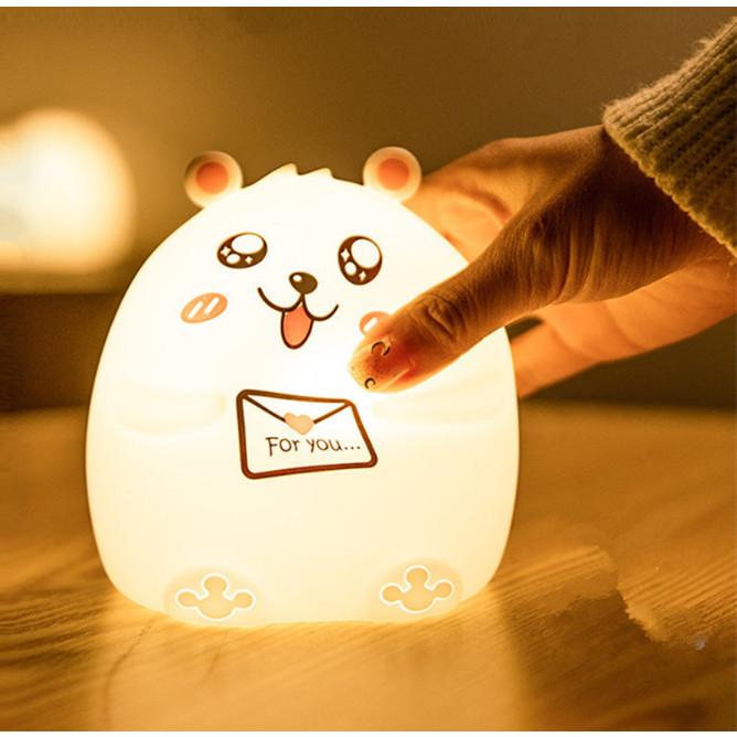 Đèn ngủ cảm ứng Panda siêu đẹp ( Tặng kèm 01 miếng thép đa năng để ví )