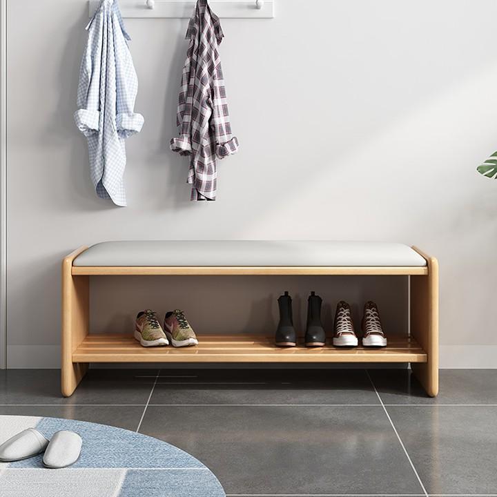 Ghế băng dài 90cm tiện ích đa năng gỗ cao cấp Ghế đôn kèm ngăn để giày dép thông minh GHR007 Giao màu ngẫu nhiên