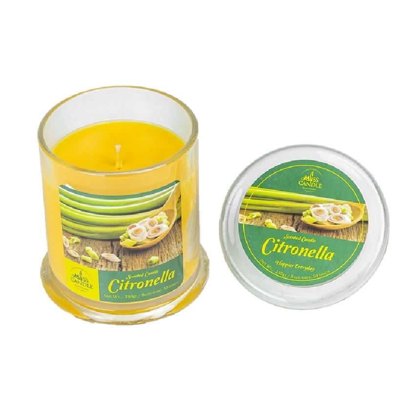 Hũ nến thơm Miss Candle NQM3414 Citronella (Hương sả chanh)