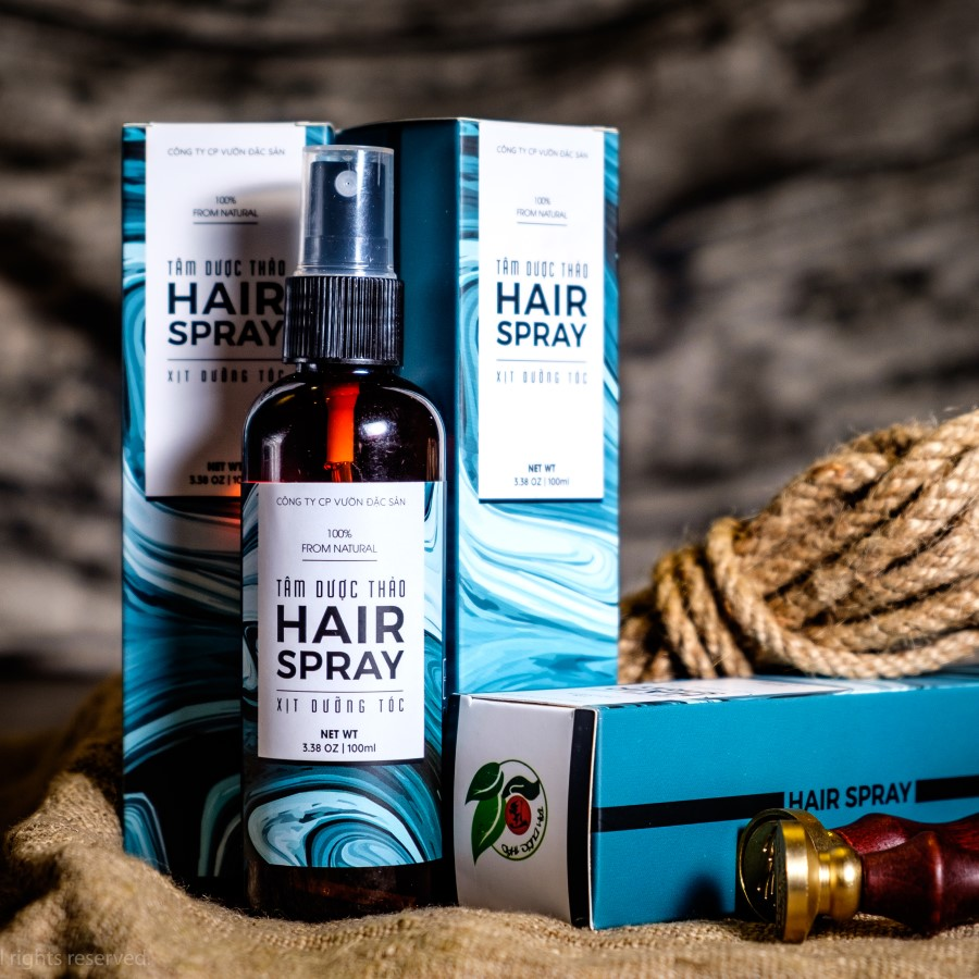 Xịt dưỡng tóc Tâm Dược Thảo 100ml -Tinh dầu Bưởi tự nhiên và nguyên chất