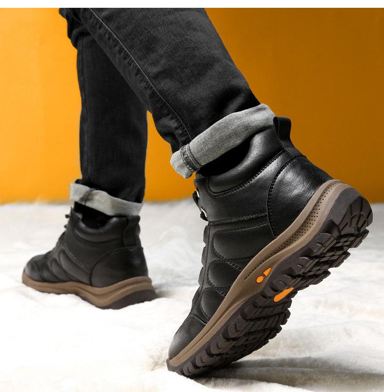 Giày mùa đông ấm áp giày lông cừu thật giày đi tuyết nam giới - mã 87810