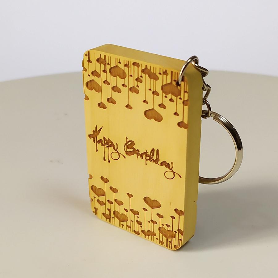 Móc khóa gỗ tặng sinh nhật