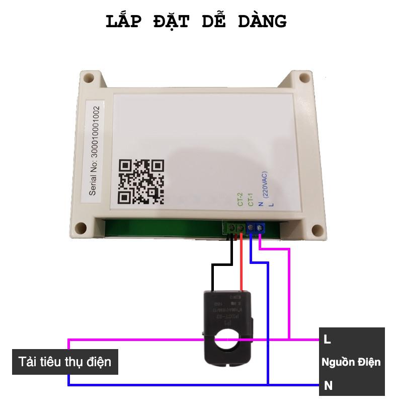 Công tơ số 100A, xem trên điện thoại tiền điện, số điện, công suất, dòng điện, điện áp theo thời gian thực