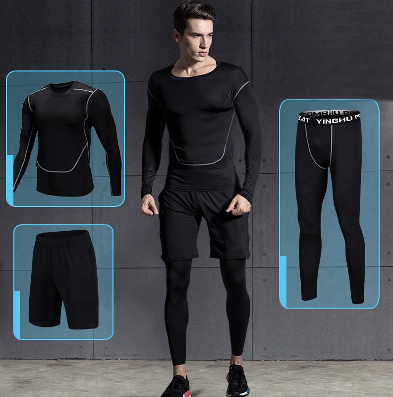 Set 2 in 1 Quần đùi gym nam, Quần legging nam, Quần tập gym nam - Thích hợp tập gym, đá bóng, chạy bộ, bóng rổ hoặc giữ ấm cơ thể - Quần tập gym nam chất liệu thun lạnh cao cấp ôm body (SP005)