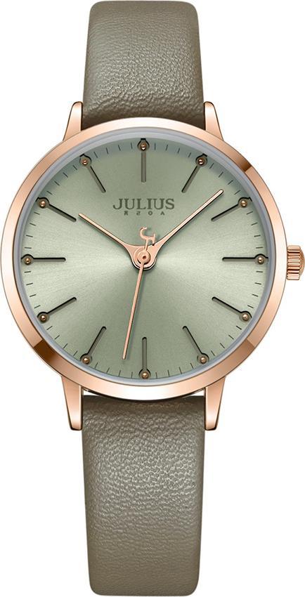Đồng Hồ Nữ Dây Da Julius JA-1034C (33mm) - Xám