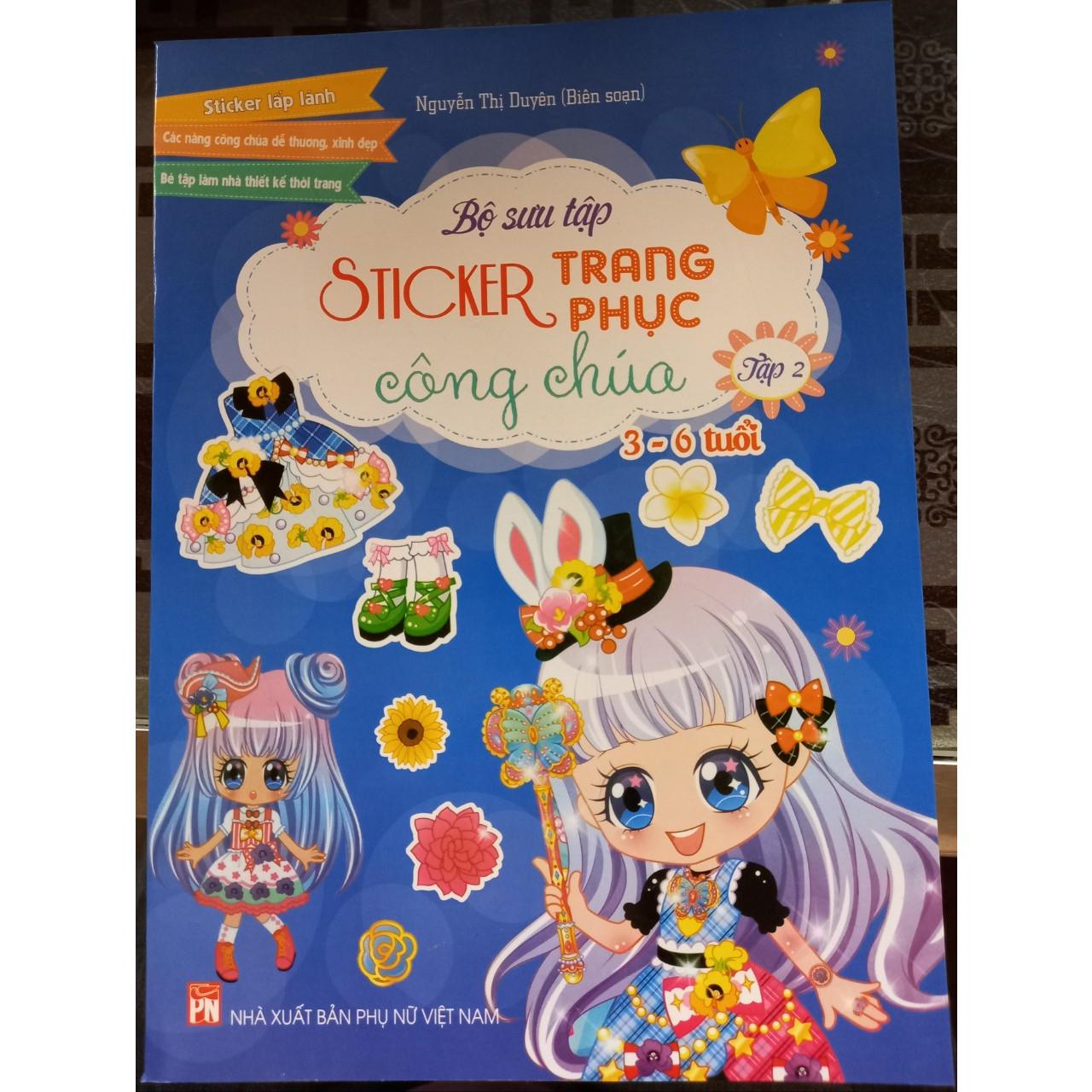 Bộ sưu tập sticker trang phục công chúa - tập 2