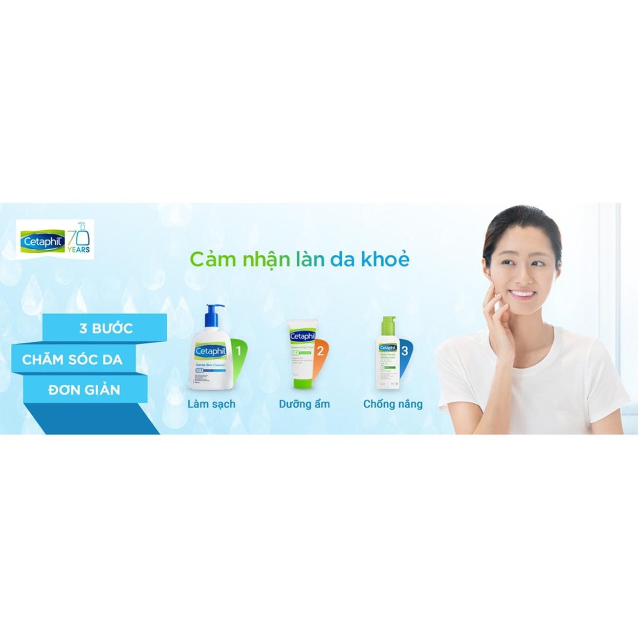 Sữa Rửa Mặt Cetaphil Gentle Skin Cleanser (125ml) + Tặng Kèm 2 Mũ Trùm Đầu Khi Tắm Hoặc Ủ Tóc Trong Suốt