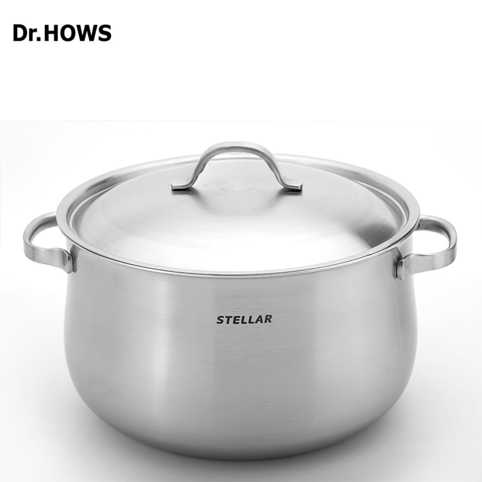 Nồi hầm Inox 3 lớp Dr.Hows Stella Stock Pot 28cm Inox
