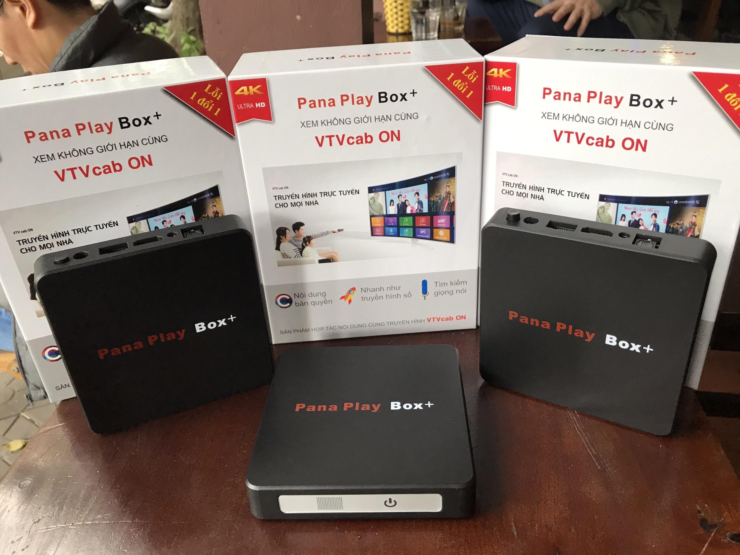 Android tivi Box Pana Play Box+ hàng chính hãng