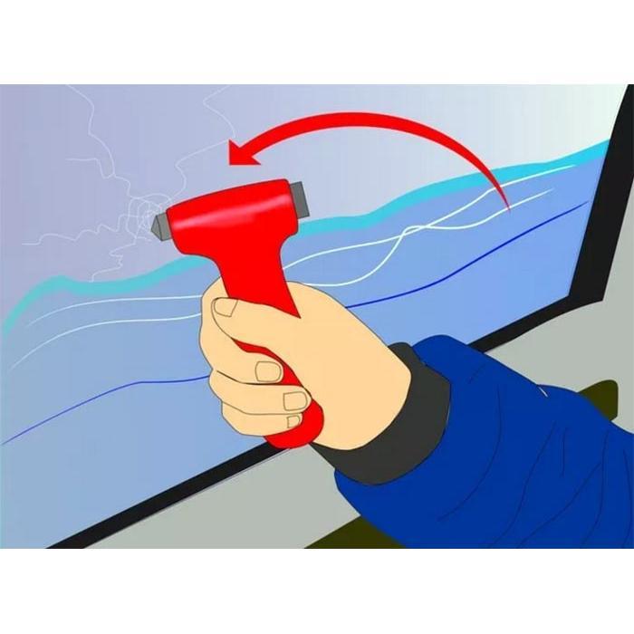 Búa phá kính thoát hiểm chuyên dụng cho ô tô