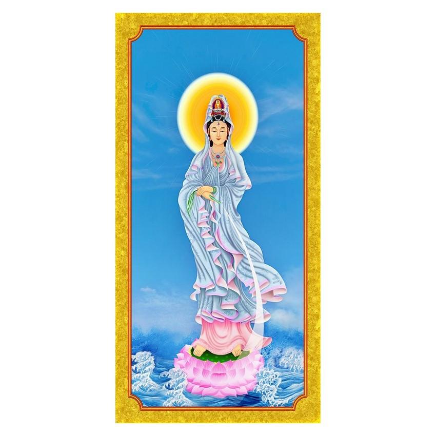 Tranh Phật Giáo Quan Âm 337 (30 x 60 cm)