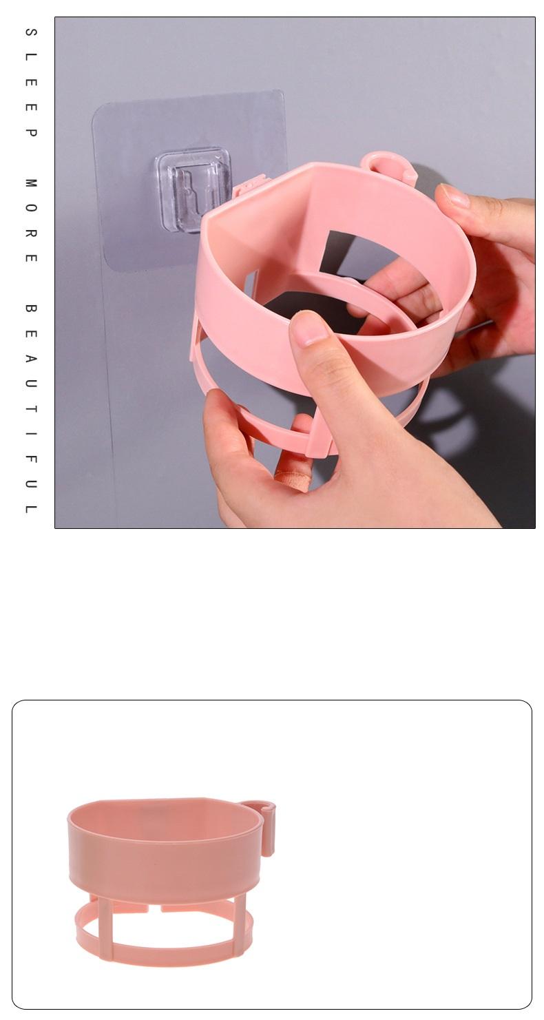 Giá đỡ máy sấy tóc treo tường bằng nhựa (màu ngẫu nhiên)