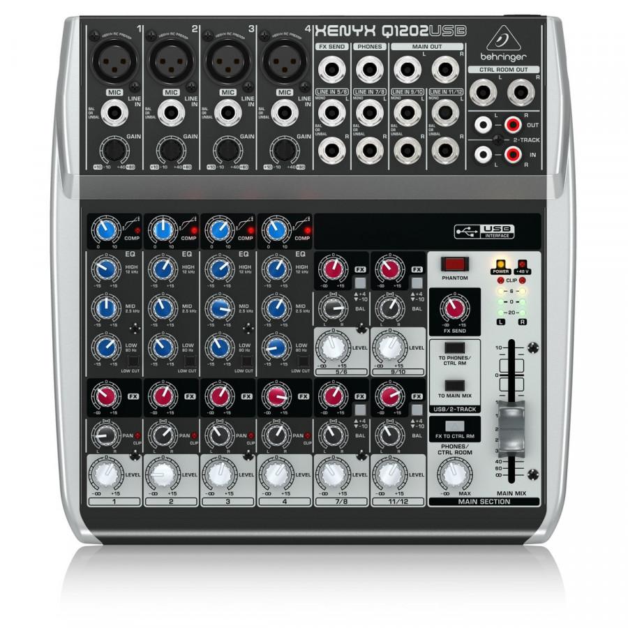 Mixer chuyên nghiệp 12 cổng Behringer XENYX Q1202USB - Hàng Nhập Khẩu
