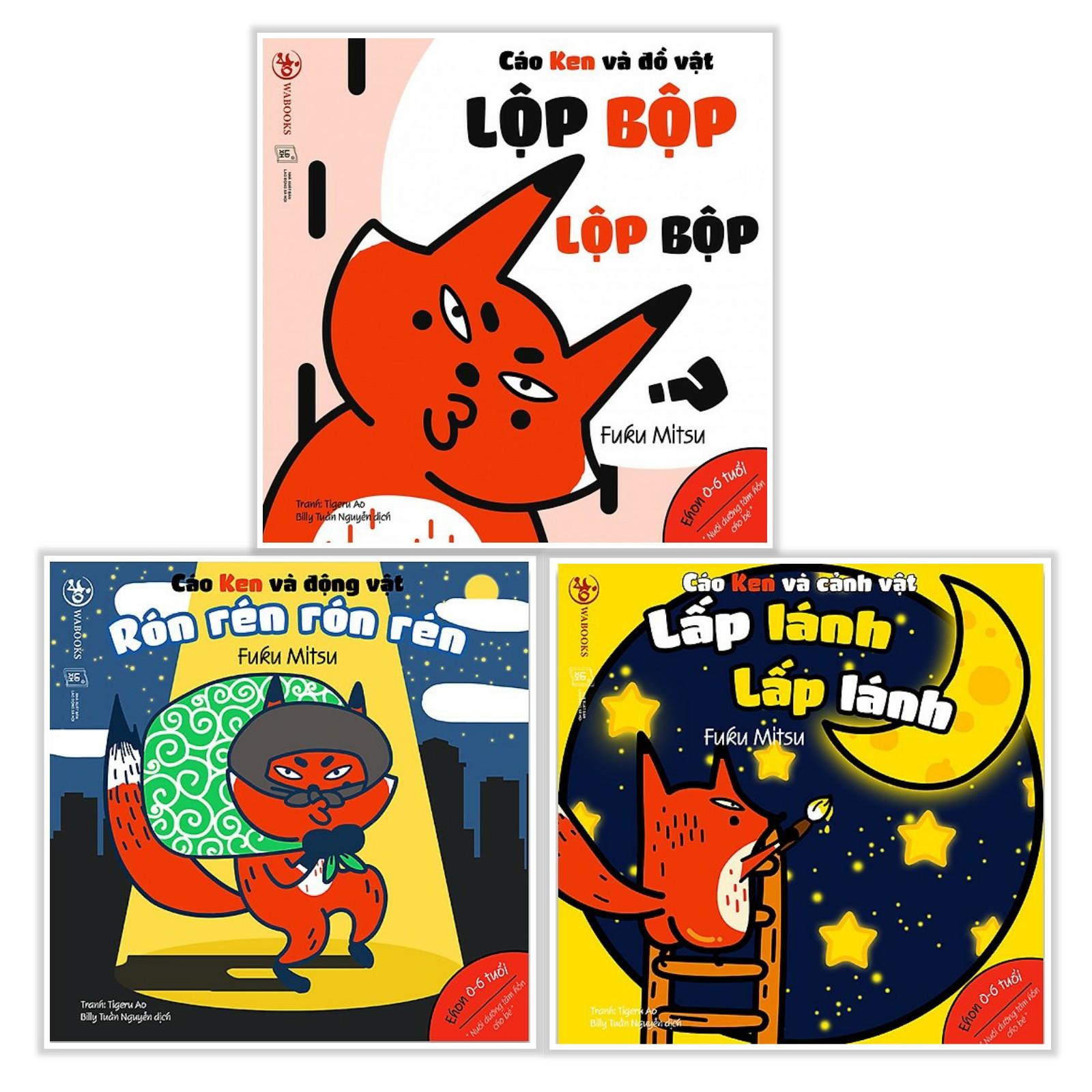 Combo Ehon Nhật Bản NHỮNG ĐIỀU KỲ DIỆU CỦA ÂM THANH: Lộp Bộp Lộp Bộp + Rón Rén Rón Rén + Lấp Lánh Lấp Lánh (Bộ 3 Cuốn Phát triển trí tuệ 0 - 6 tuổi/ Tặng kèm Bookmark Happy Life)