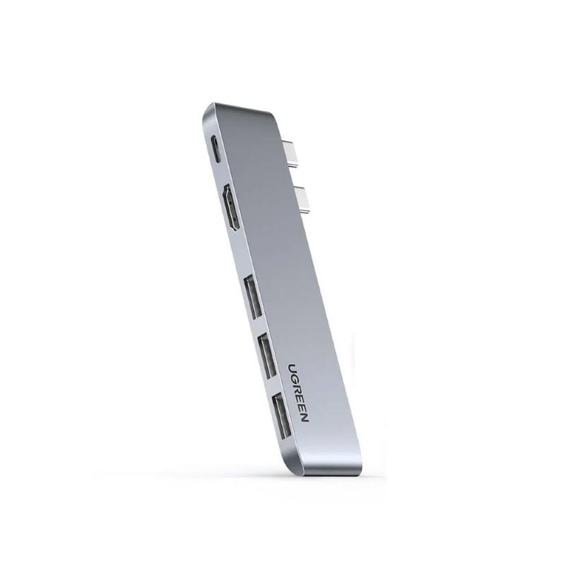 """Type C Pro Hub 4K cho Macbook Pro / Air 16 """" / 15"""" / 13"""" 100W sạc PD + 4K HDMI + 3 x USB 3.0 + Thunderbolt 3 8K Ugreen 251MP60559CM màu xám hàng chính hãng"""