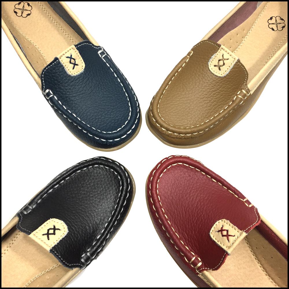 Giày Thái Lan moca nữ, giày lười nữ da bò mềm chuyên dụng đi bộ SZ82-025 Sr7
