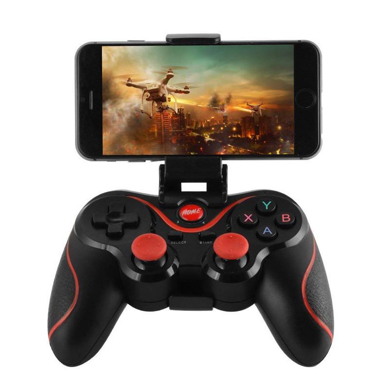 Tay cầm chơi game Bluetooth  cho Android, Window Terios X3 + Giá đỡ Điện Thoại