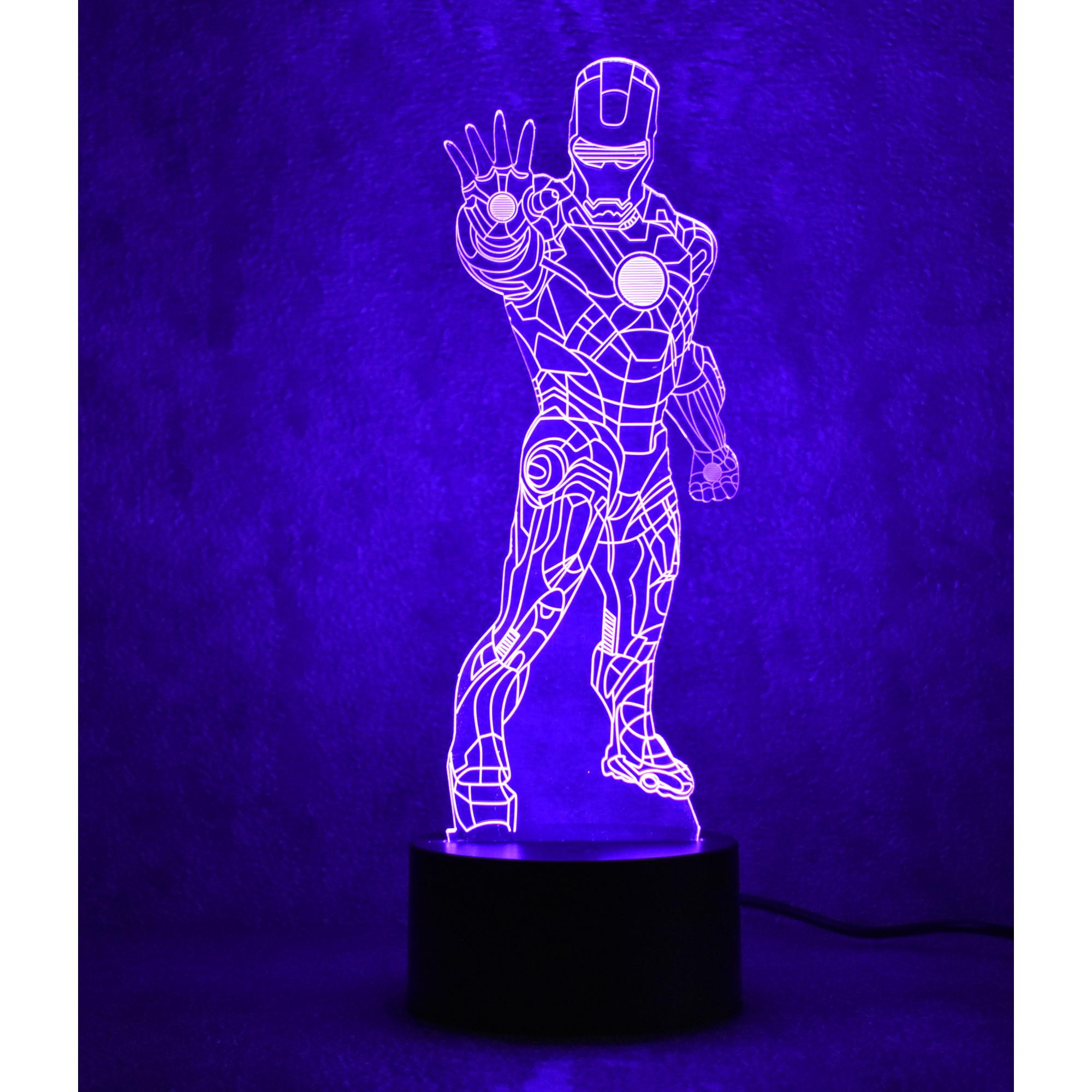Đèn ngủ 3D led 7 màu cảm ứng
