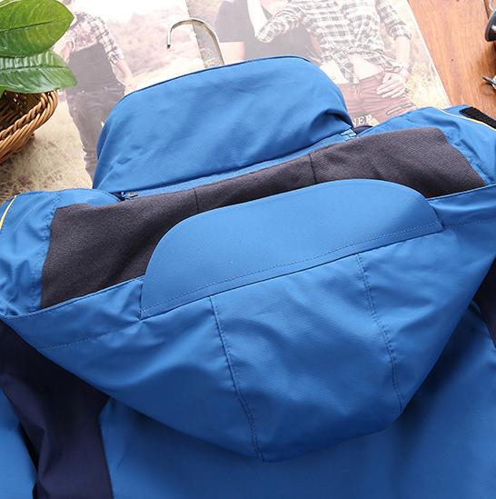 Áo khoác nữ 3 lớp chống thấm 2019 có thể tách rời lớp lót nỉ bên trong thành 2 áo riêng biệt