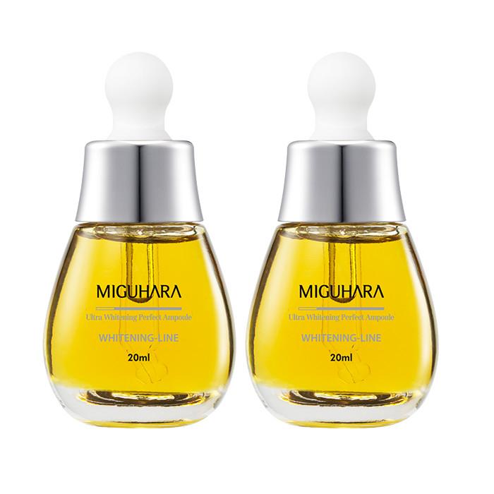 Combo 2 Tinh chất chống lão hóa và Dưỡng trắng da MIGUHARA 20 ml