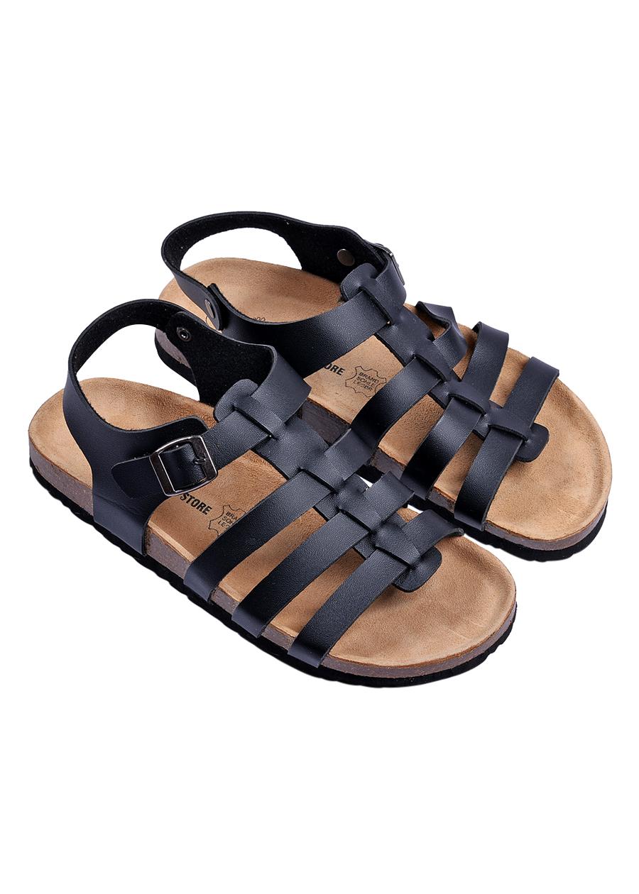 Giày Sandal Nữ Chiến Binh Đen Đế Trấu HuuCuong 2160