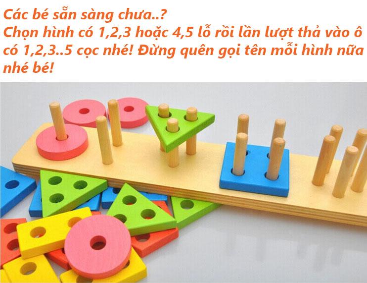 Đồ chơi thả hình thông minh 25 khối