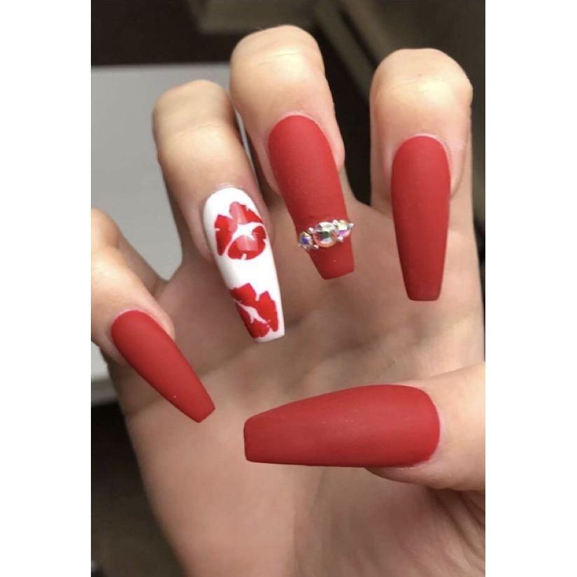 Sticker nails dấu son - hình dán móng 3D