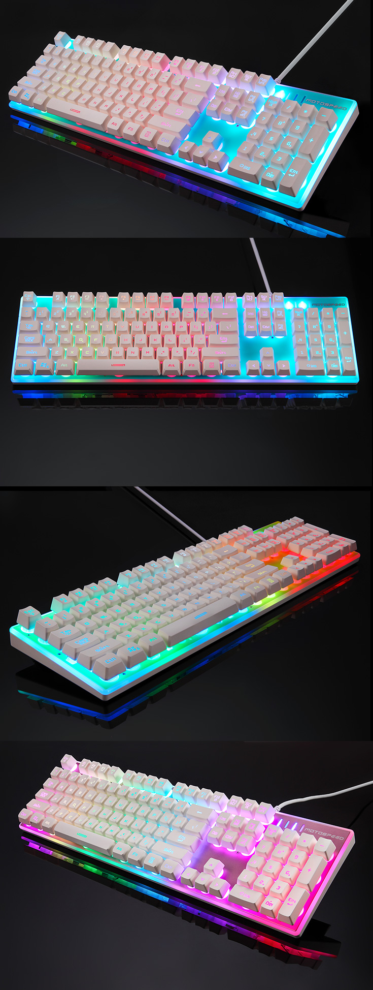 Bàn phím giả cơ MOTOSPEED K11 LED RGB - Đỏ - Hàng chính hãng
