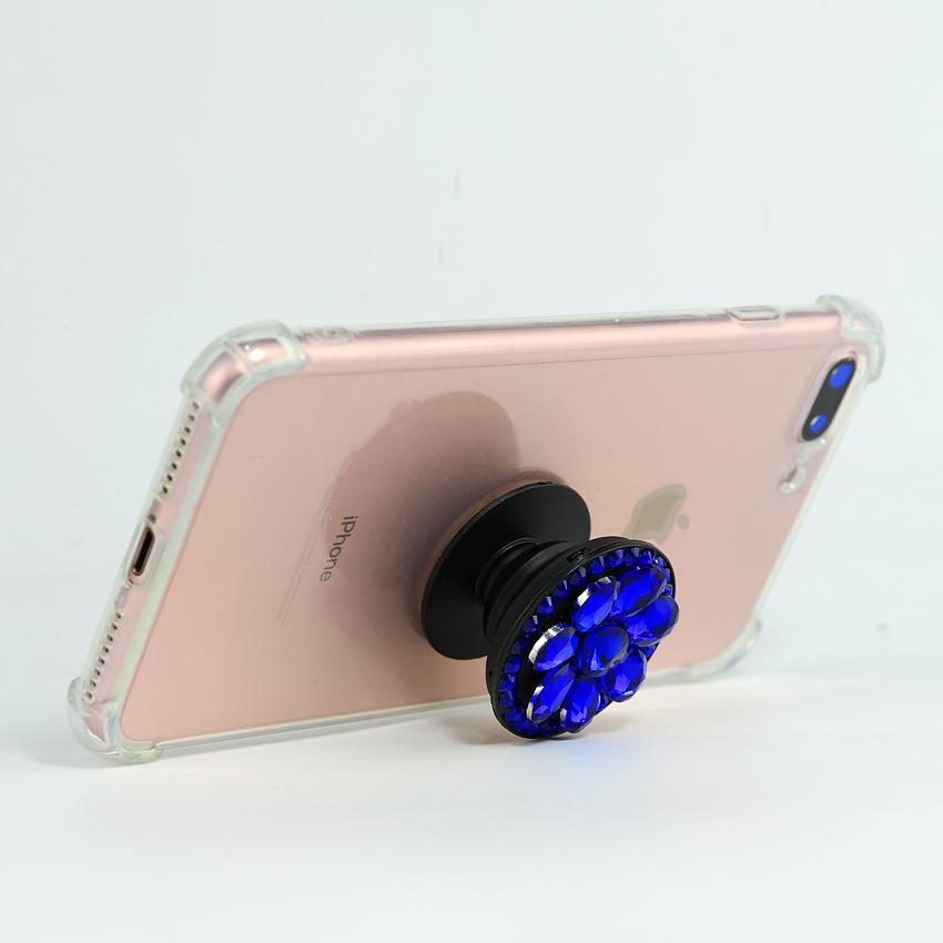 Gía đỡ điện thoại đa năng, tiện lợi, đính đá sang trọng - PopSockets - Đính đá Xanh - Hàng Chính Hãng