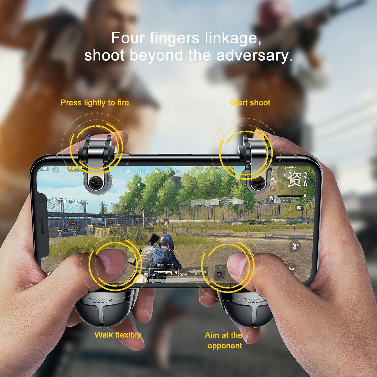 Bộ gamepad nút hỗ trợ chơi game PUBG Baseus Holder cho điện thoại máy tính bảng (Màu ngẫu nhiên) - Hàng chính hãng