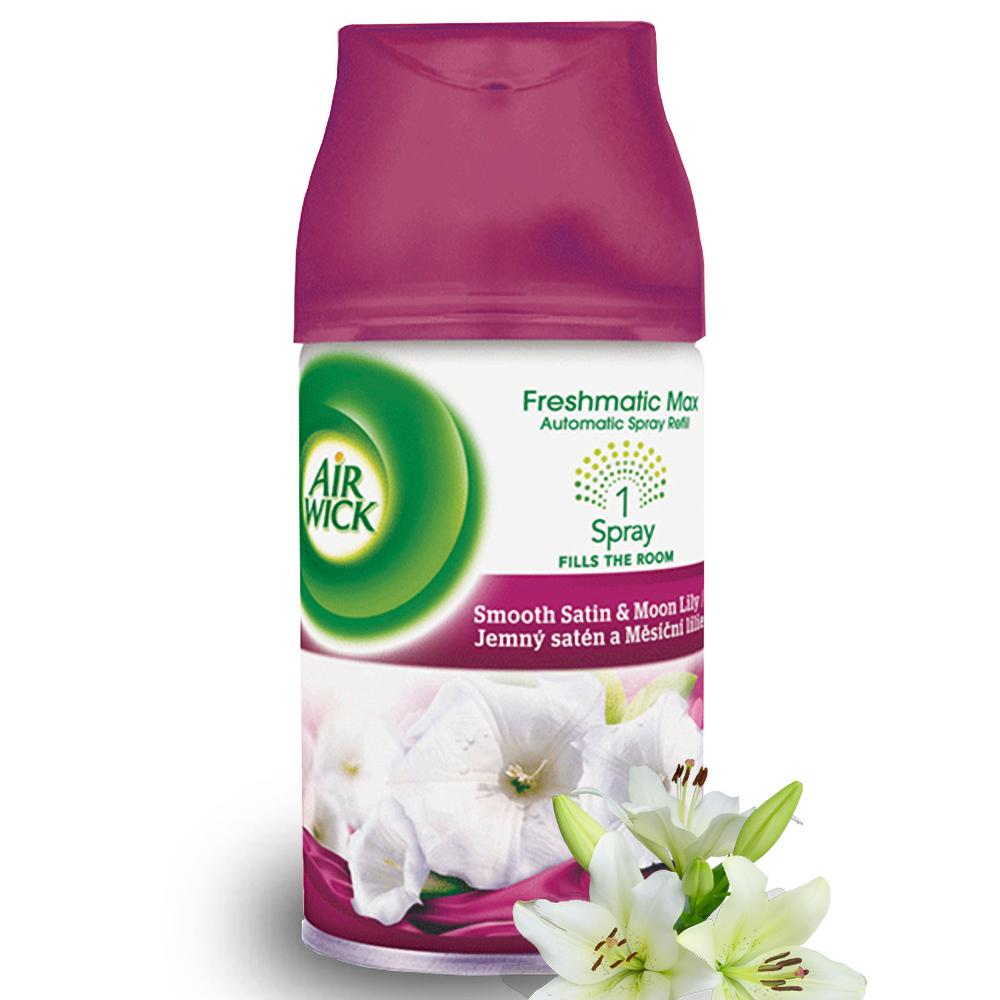 Bình xịt tinh dầu thiên nhiên Air Wick Smooth Satin & Moon Lily 250ml QT016841 - hương hoa ly