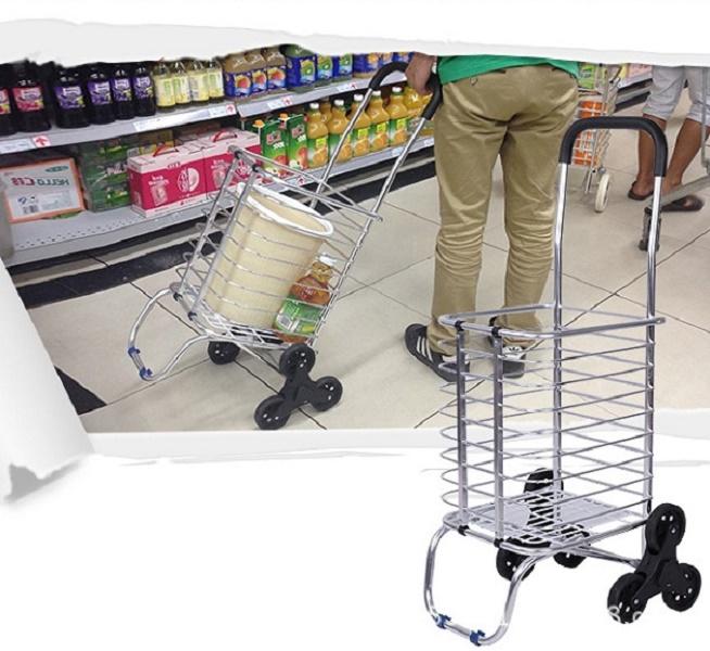Xe kéo đi chợ 3 bánh leo cầu thang siêu nhẹ 201