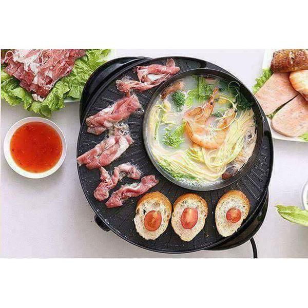 Bếp Lẩu Nướng Điện 2 in 1 Đa Năng Kiểu Dáng Hàn Quốc - HP79